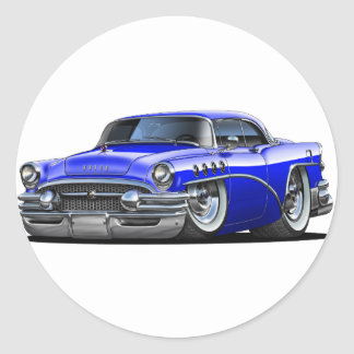 Buick Century Blue Car Classic Round Sticker