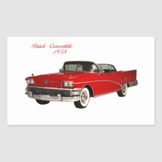 Buick Convertible 1958 Rectangular Sticker