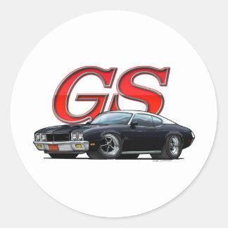 Buick_GS_BlackVW Classic Round Sticker