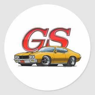 Buick GS_gold Classic Round Sticker