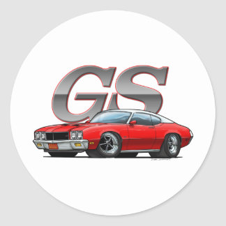 Buick_GS_Red_VW Classic Round Sticker