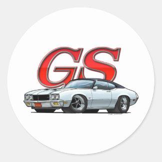 Buick GS_White VB Classic Round Sticker