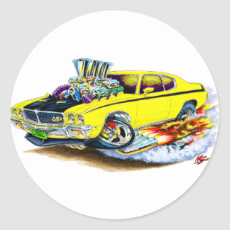 Buick GSX Yellow Car Classic Round Sticker