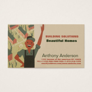 Builder and gardener business card
