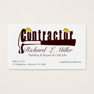 Builder Construction Contractor Mens Tools Business Card