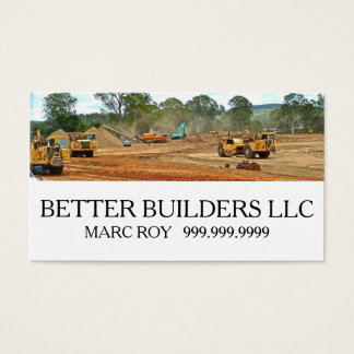 Builder, Manager, Construction Business Card