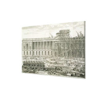 Building of the Main Entrance of the Louvre, Paris Canvas Print