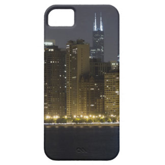 Buildings along the Chicago lakefront at night, iPhone 5 Covers