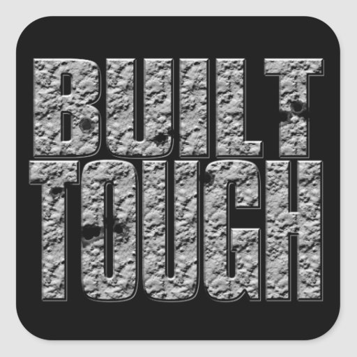 BUILT TOUGH.Hardcore Strong Muscle Man Square Stickers