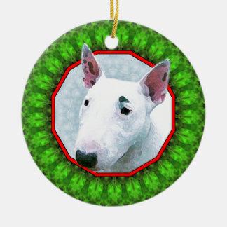 Bul Terrier Happy Howliday Christmas Ornament