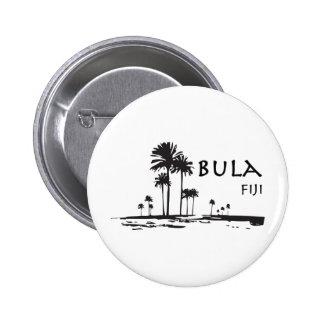 Bula Fiji Palm Tree Graphic 6 Cm Round Badge