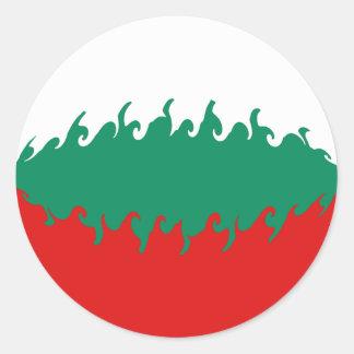 Bulgaria Gnarly Flag Round Stickers