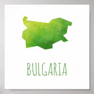 Bulgaria Map Poster