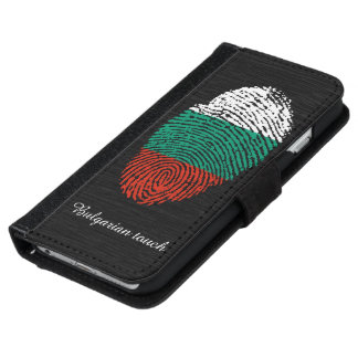 Bulgarian touch fingerprint flag iPhone 6 wallet case