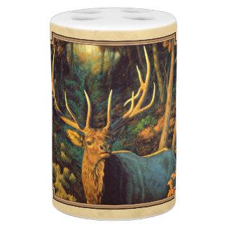 Bull Elk Autumn Yellow Bathroom Set