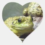Bull Frog Heart Sticker