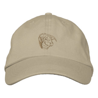 Bull Head Outline Embroidered Hat