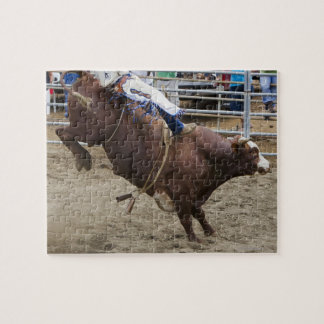 Bull rider at rodeo puzzle