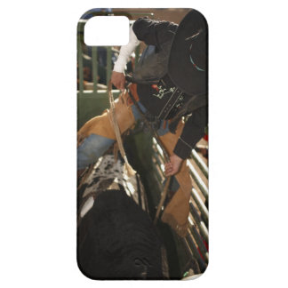 Bull rider tying rope on bull in the chute case for the iPhone 5