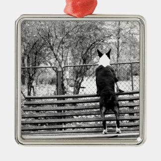 Bull terrier christmas ornament
