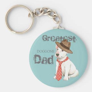 Bull Terrier Dad Key Ring