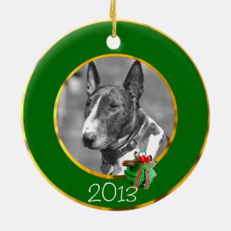 Bull Terrier dog Christmas Ornament