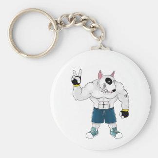 bull terrier dog  fight key ring