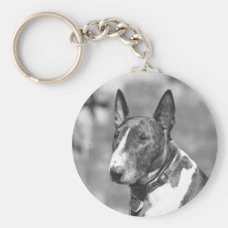 Bull Terrier Dog Key Ring