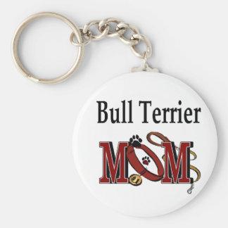 Bull Terrier Dog Mom Gifts Key Ring