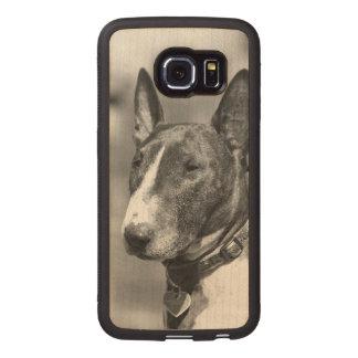 Bull Terrier dog Wood Phone Case