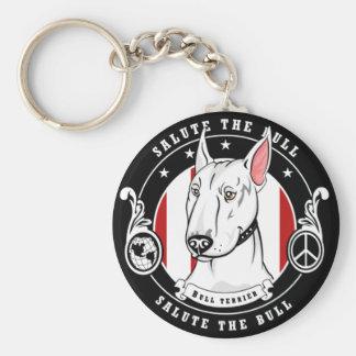 Bull Terrier keychain