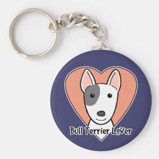 Bull Terrier Lover Key Ring