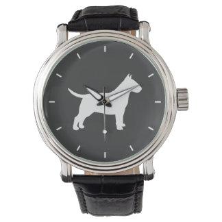 Bull Terrier Silhouette Watch