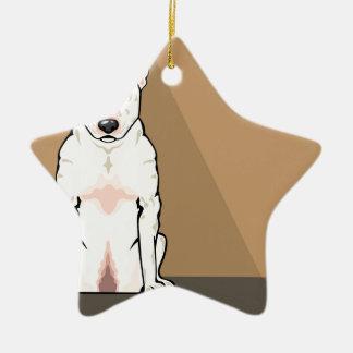 Bull Terrier vector Ceramic Star Decoration