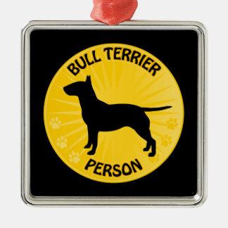Bull Terrier Xing Christmas Ornament