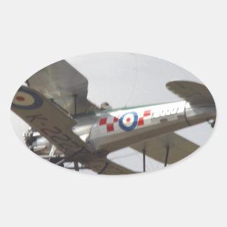 Bulldog Biplane Oval Sticker