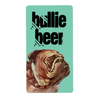 Bulldog Bullie Beer Homebrew Bull Dog Custom Label Shipping Label