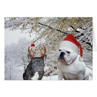 Bulldog Christmas 2 Card