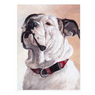 Bulldog Dog Art Postcard