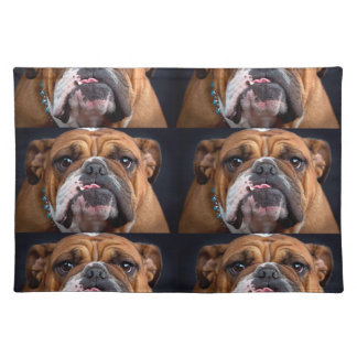 Bulldog English Bad Face Placemat