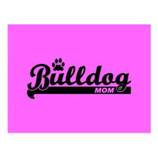 Bulldog mom postcard