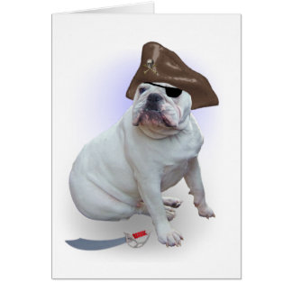 Bulldog pirate card