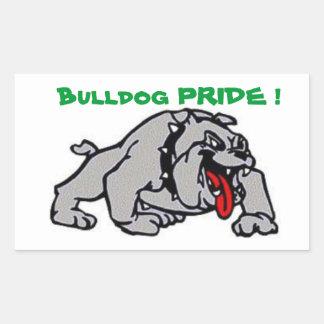 Bulldog Pride Rectangular Sticker