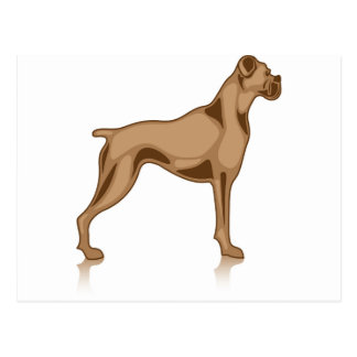 Bulldog Profile Postcard