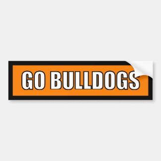 Bulldogs - Black Orange White Bumper Sticker