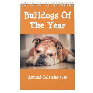 Bulldogs Of The Year Annual Calendar 2018