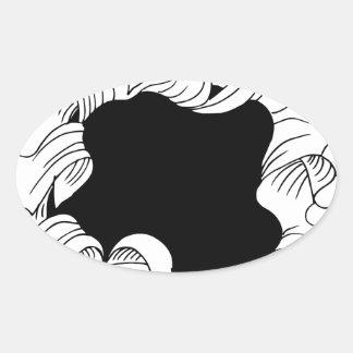 Bullet hole paper oval sticker