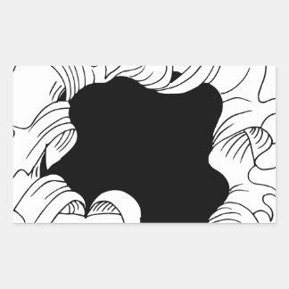 Bullet hole paper rectangular sticker