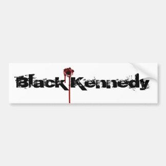 bullet hole sticker, Black Kennedy Bumper Sticker