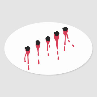 Bullet holes blood stickers